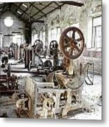 Rusty Machinery Metal Print by Carlos Caetano