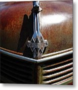 Rusty Old 1935 International Truck Hood Ornament. 7d15503 Metal Print by Wingsdomain Art and Photography