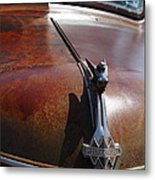Rusty Old 1935 International Truck Hood Ornament. 7d15506 Metal Print by Wingsdomain Art and Photography