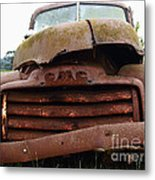 Rusty Old Gmc Truck . 7d8396 Metal Print by Wingsdomain Art and Photography