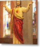 Sacred Heart Of Jesus Metal Print by Clarence Holmes