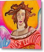 Sad Angel Metal Print by Christine Perry