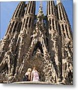 Sagrada Familia Church - Barcelona Spain Metal Print by Matthias Hauser