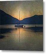 Sailing Boat At Night Metal Print by Joana Kruse