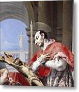 Saint Charles Borromeo Metal Print by Giovanni Battista Tiepolo