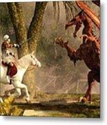 Saint George And The Dragon Metal Print by Daniel Eskridge