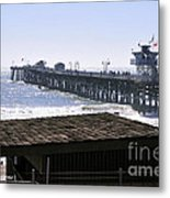 San Clemente Pier California Metal Print by Clayton Bruster