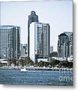 San Diego Downtown Waterfront Buildings Metal Print by Paul Velgos
