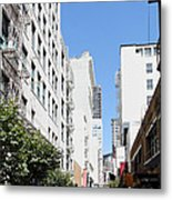 San Francisco - Maiden Lane - Outdoor Lunch At Mocca Cafe - 5d18011 Metal Print by Wingsdomain Art and Photography