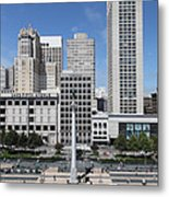 San Francisco - Union Square - 5d17941 Metal Print by Wingsdomain Art and Photography