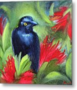 San Francisco Black Bird Metal Print by Karin  Leonard