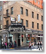 San Francisco Marquards Little Cigar Store On Powell Street - 5d17950 - Painterly Metal Print by Wingsdomain Art and Photography