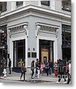 San Francisco Shreve And Company On Grant Street - 5d17920 Metal Print by Wingsdomain Art and Photography