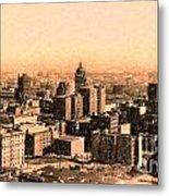 San Francisco Skyline 1909 Showing South Of Market Street Metal Print by Wingsdomain Art and Photography