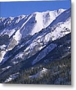 San Juan Mountains Covered In Snow Metal Print by Tim Fitzharris