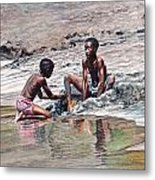Sand Castle Metal Print by Gregory Jules