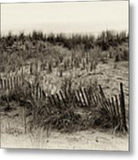 Sand Dune In Sepia Metal Print by Bill Cannon