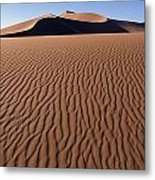 Sand Dunes Against Clear Sky Metal Print by Axiom Photographic