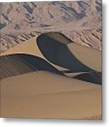 Sand Dunes In Death Valley Metal Print by Marc Moritsch