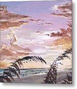 Sanibel Island Sunset Metal Print by Jack Skinner