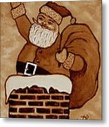 Santa Claus Is Coming Metal Print by Georgeta  Blanaru