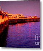 Santa Cruz Wharf Metal Print by Garnett  Jaeger