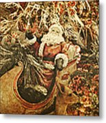 Santa's Vintage Memories Metal Print by Toni Hopper
