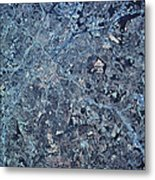 Satellite View Of Charlotte, North Metal Print by Stocktrek Images