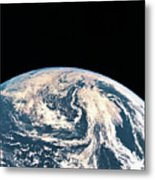 Satellite View Of The Earths Surface Metal Print by Stockbyte