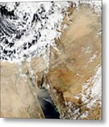Satellite View Of The Eastern Metal Print by Stocktrek Images