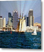 Saturday In San Diego Bay Metal Print by Cheryl Young
