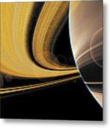 Saturn Glory Metal Print by Don Dixon