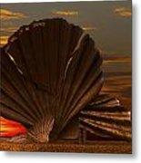 Scallop Sunrise At Aldeburgh Metal Print by Darren Burroughs