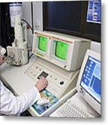 Scanning Electron Microscope Metal Print by Paul Rapson