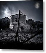 Scary House Metal Print by Stelios Kleanthous