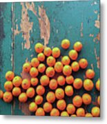 Scattered Tangerines Metal Print by Sarah Palmer