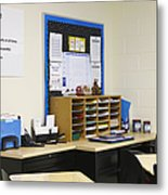 School Teachers Desk Metal Print by Skip Nall