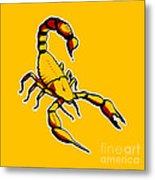Scorpion Graphic  Metal Print by Pixel Chimp
