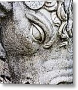 Sculpture Of Bull, Temples Of Apollo Metal Print by Carson Ganci