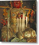 Sculpture Of Wrathful Protective Deity Metal Print by Gordon Wiltsie