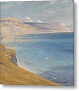 Sea And Sunshine   Lyme Regis Metal Print by Sir Frank Dicksee