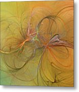 Sea Grass Sunset Metal Print by Betsy C Knapp