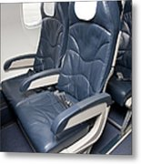 Seats On An Airliner Metal Print by Jaak Nilson