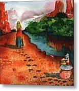 Sedona Arizona Spiritual Vortex Zen Encounter Metal Print by Sharon Mick