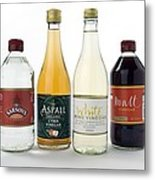 Selection Of Vinegars Metal Print by Trevor Clifford Photography