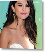Selena Gomez At Arrivals For 2011 Teen Metal Print by Everett