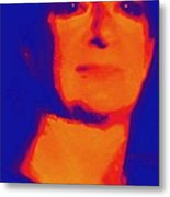 Self Portrait On Fire For The Future Metal Print by Carolina Liechtenstein