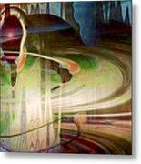 Sensing The Spheres Metal Print by Linda Sannuti