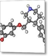 Seroxat Antidepressant Drug Molecule Metal Print by Laguna Design