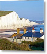 Seven Sisters Cottage View Metal Print by Michael Stretton